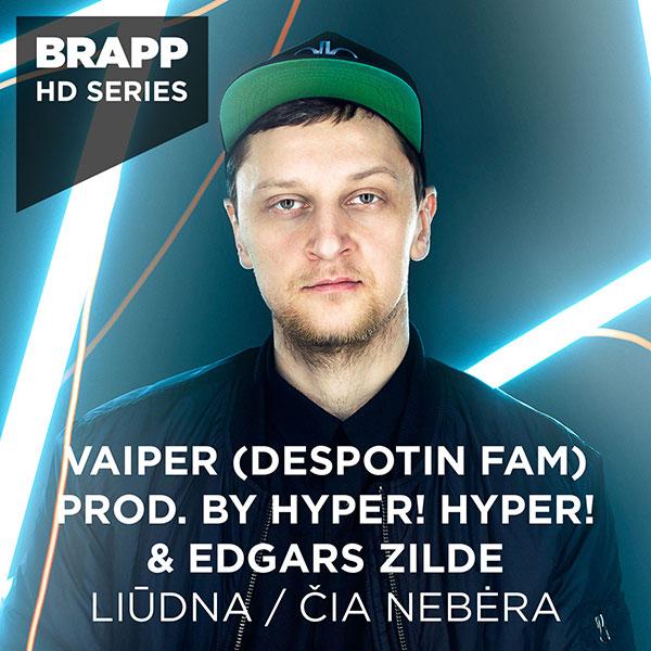 """Brapp Records BRAPPHDA0043 """"Liūdna / Čia Nebėra"""" artwork"""